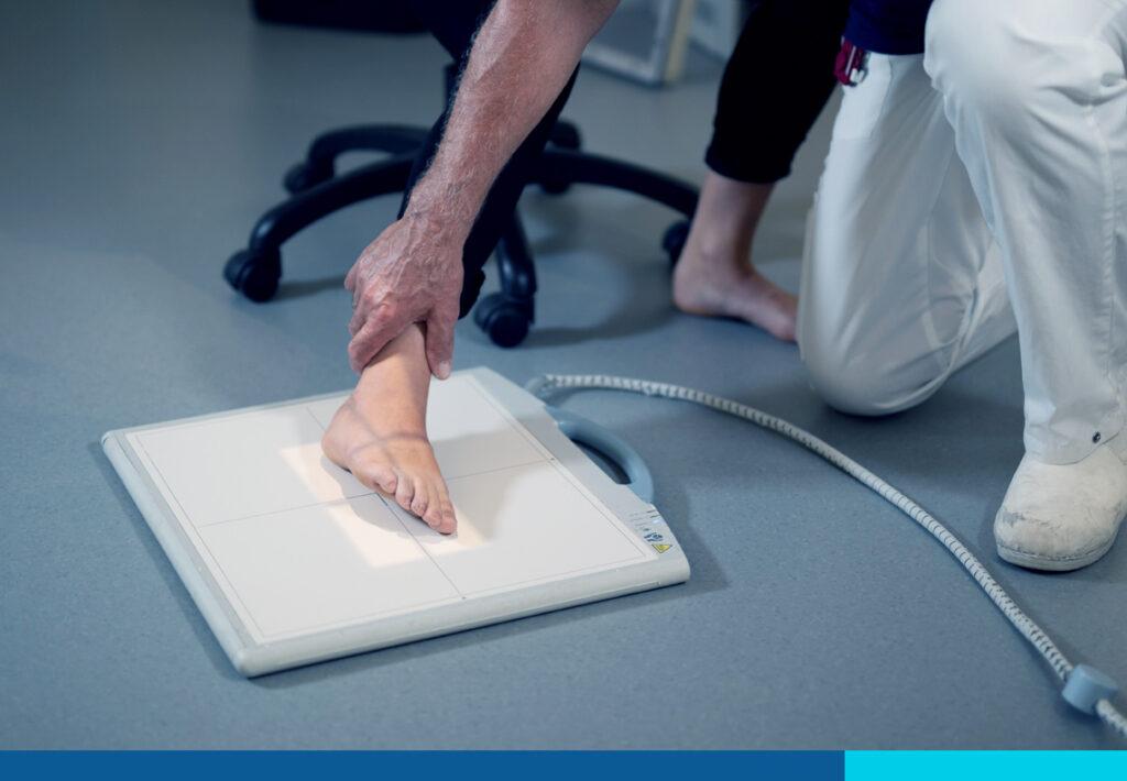 Røntgenbillede af en kvindes fod
